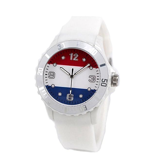Reloj con la bandera de Holanda con pulsera de Silicona