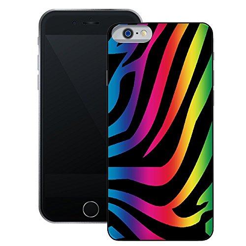 Regenbogen Pfau Feder   Handgefertigt   iPhone 6 6s (4,7')   Schwarze Hülle
