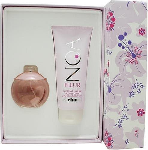 Noa Fleur By Cacharel For Women. Set-edt Spray 3.4 Ounces & Body Lotion 6.7 Ounces Noa Fleur Cacharel