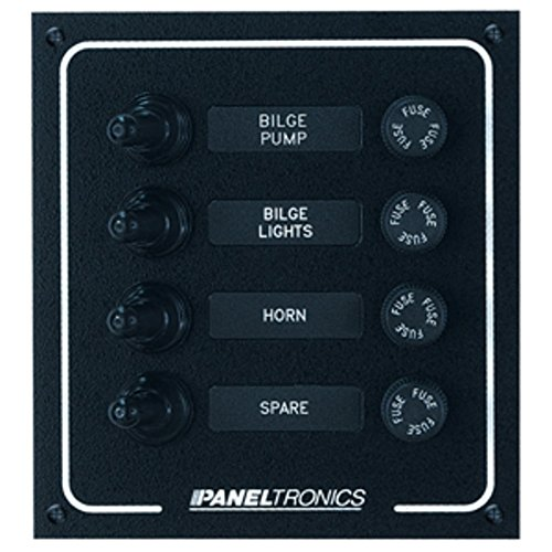 Paneltronics Waterproof DC 4 Position Booted Toggle & Fuse Marine , Boating Equipment ()