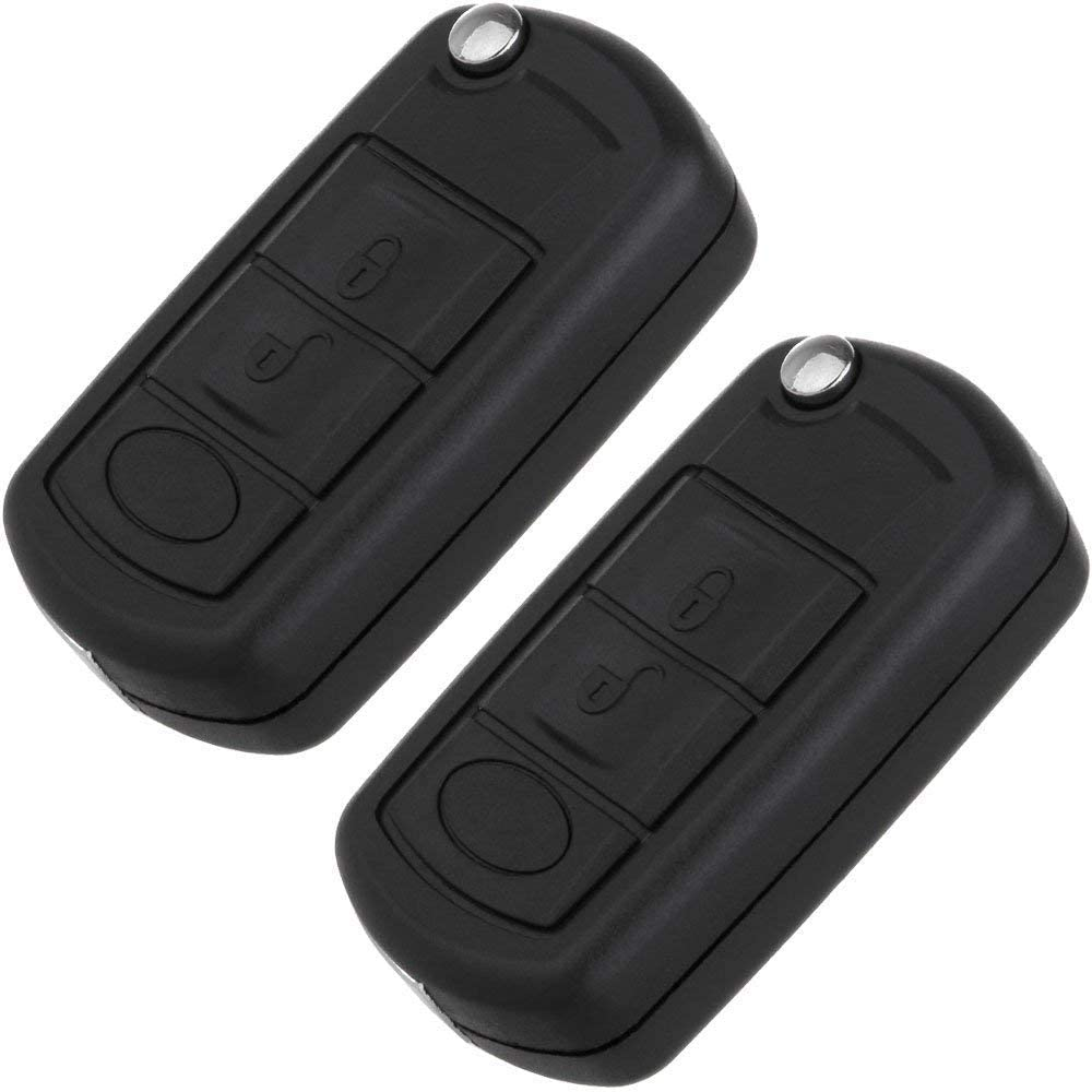 SCITOO Pack of 1 433MHz Keyless Entry Remote Control Key Fob Clicker Transmitter fit for Land Rover LR3 Range Rover Sport 3 Buttons Black