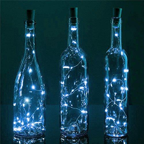 BULK PACK (3) Fantado 20-LED White Cork Wine Bottle Lamp Fairy String Light Stopper, 38-Inch by PaperLanternStore -