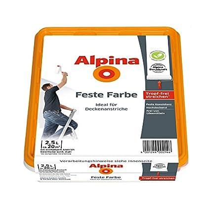 Alpina Feste Farbe 25 L Deckenfarbe Tropffrei Streichen