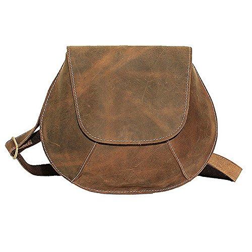Paonies Women Genuine Leather small Shoulder Bag Purse Handbags by Paonies