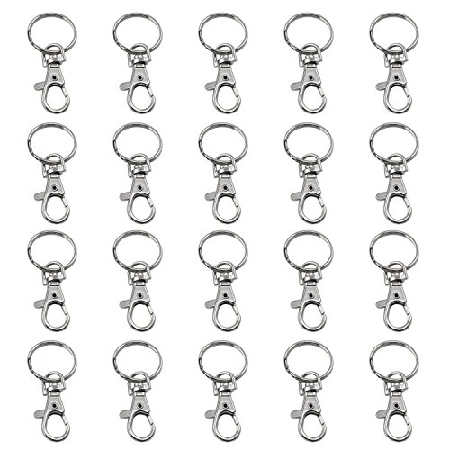 (TRIXES 20 X Small Lobster Detachable Swivel Clasps for Key Split Ring)