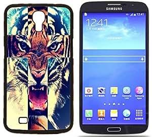 Tiger Roar Cross Hard Plastic and Aluminum Back Case For Samsung I9200 Galaxy Mega 6.3 by ruishername