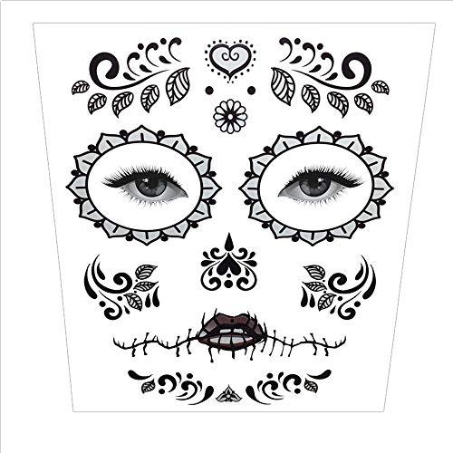 Stheanoo Halloween Face Sticker for Men and Women