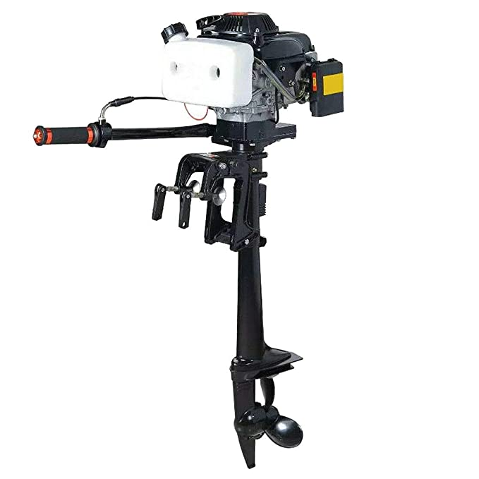 DOMINTY Outboard Motors,4HP 4-Stroke 55CC Outboard Motor Marine Engine Air  Cooling Fishing Boat Yacht Engine Air Cooling Inflatable Boat Motor