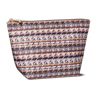 Sonia Kashuk153; Cosmetic Bag Boat Clutch Broken Houndstooth MULTI-COLORED