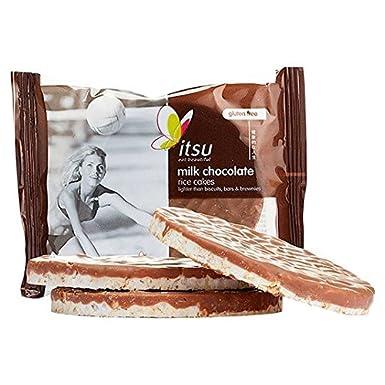 Itsu 2 Leche tortas de arroz 50 g de chocolate: Amazon.es: Alimentación y bebidas