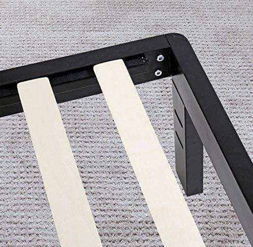 Olee Sleep 14 Inch Metal & Wood Slate Bed Frame 14BF03K