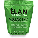 ELAN Sugar Free Cinnamon Nut Granola Cereal, Diabetic Friendly Low Carb Snack Food, Organic Unsweetened Oatmeal Muesli (Pecan Pistachio Cashew, 9.5 Oz Bag)