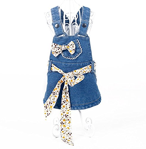 KTYX Puppy Dog ​​clothes Teddy Bomeibi Bear Yorkshire Small Dog Bullfighting Pet Summer Dress Thin Section Princess Dress Summer pet clothes (Size : S) by KTYX (Image #2)