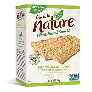Back to Nature Non-GMO Crackers, Multigrain Flax Seeded Flatbread, 5.5 Ounce