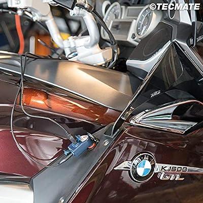 Tecmate Optimate O-105, 3300mA Dual Output Weatherproof USB Charger, with Bike Plug (fits BMW, Triumph or Ducati MultiStrada): Automotive