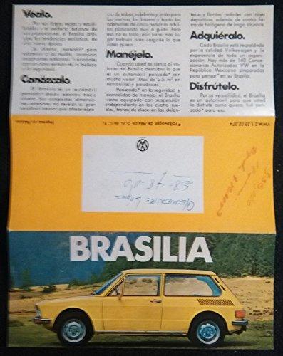 Amazon.com : 1974 VOLKSWAGEN BRASILIA VINTAGE COLOR SALES BROCHURE FOLDER - MEXICO - SPANISH - GREAT ORIGINAL!! : Everything Else