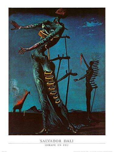 The Burning Giraffe, c. 1937 Art Print Fine Art Poster Print by Salvador Dalí, - Burning Dali Giraffe