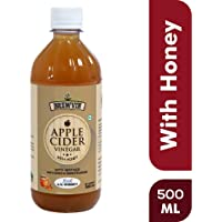 Brewvin Raw and Unfiltered Apple Cider Vinegar with Mother and Honey, 500ml