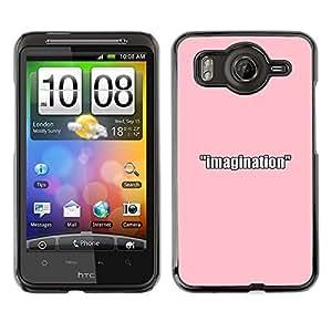 EJOY---Cubierta de la caja de protección la piel dura para el / HTC G10 / --IMAGINACIÓN ROSA