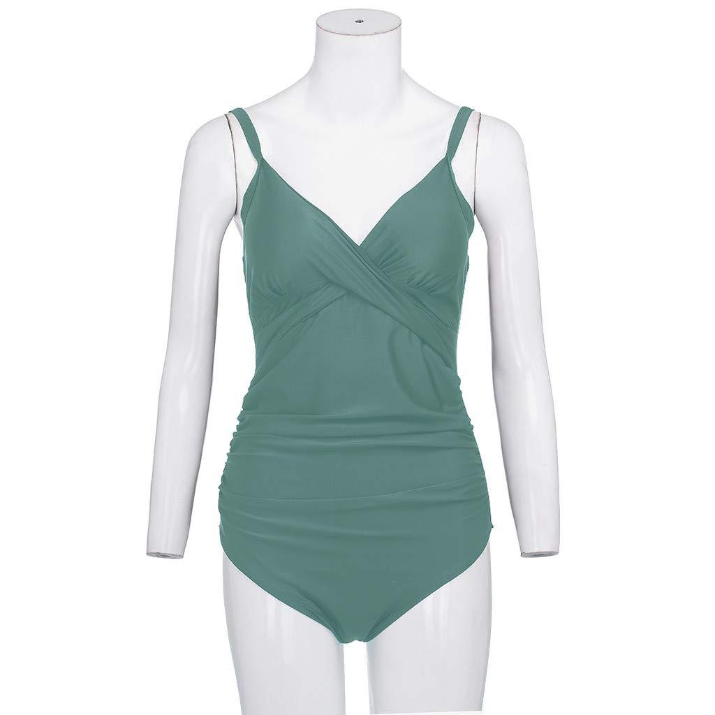 SUCES Schwangere Bademode,Umstandsbademode Sommer Badebekleidung Damen Gro/ß Gro/ße Strand Bikini Set Frau Push-Up Badeanzug