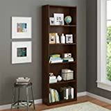 5 Shelf Decorative Wood Bookcase Northfield Alder Finish