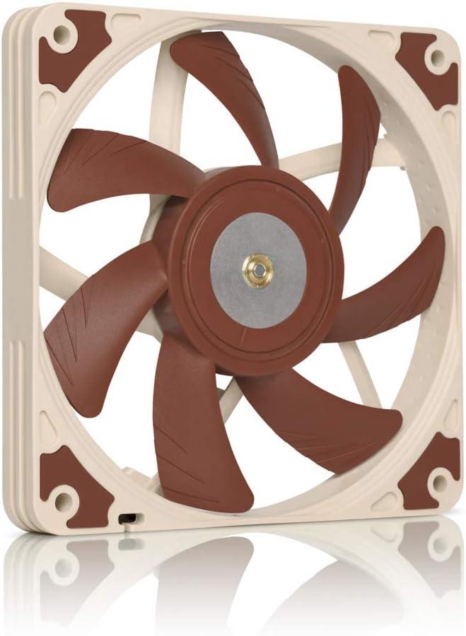 Noctua NF A12x15 PWM, Ventilateur Haut de Gamme Silencieux de Faible Épaisseur, 4 Broches (120x15 mm, Marron)