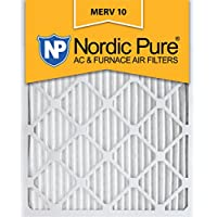 Nordic Pure 20x24x1 Pleated MERV 10 AC Furnace Filters Qty 2, 20x24x1M10-2, 2 Piece