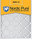 Nordic Pure 14x20x1 MERV 10 Pleated AC Furnace Air Filter, Box of 6
