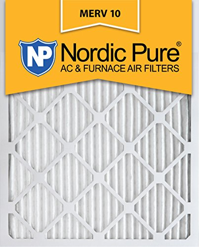 - Nordic Pure 10x20x1 MERV 10 Pleated AC Furnace Air Filters, 6 Pack
