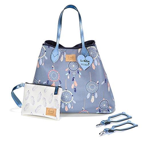 à assortie langer sac Kids Sevira Bleu main multifonctions Bleu fournies Sac pochette Dreamcatcher et imperméable et à Dreamcatcher résistant universelles sangles Ewq71g1FW