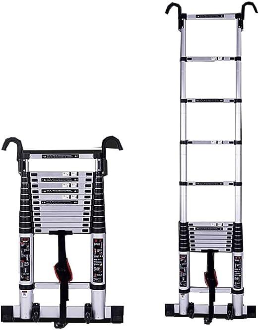 Escalera Telescópica, Escalera telescópica Escalera de aluminio Multifunción Escaleras de elevación Escalera de ingeniería Ruedas de espesar plisadas Ruedas de extensión para el hogar Escalera extensi: Amazon.es: Hogar