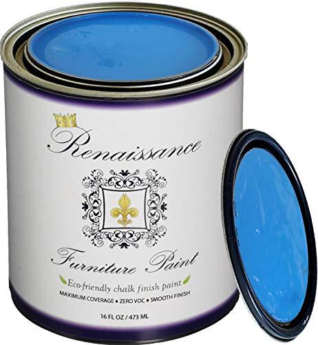 Retique It RFP-P16-EgyptianBlue by Renaissance Chalk Finish Paint 16 oz (Pint) Egyptian Blue 26