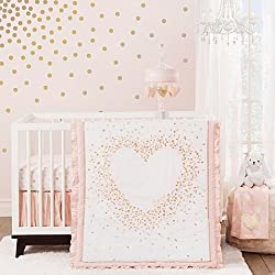 Lambs & Ivy® Sweetheart 3-Piece Crib Bedding Set Pink and White