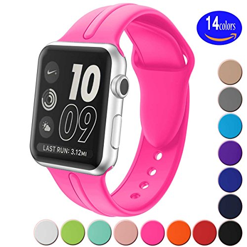 Silicone Watchband Replacement for Apple Watch 42mm (Red) - 2