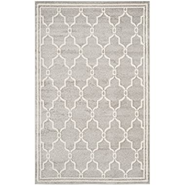 Safavieh Amherst Collection AMT414B Light Grey and Ivory Indoor/ Outdoor Area Rug (5' x 8')