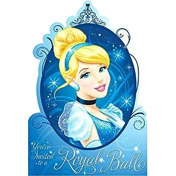 Amazoncom Cinderella Royal Ball Birthday Party Invitation Cards