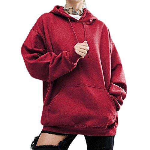 Lache Cordon Manches Sweats Mode Tops Hoodie de Casual Femmes Serrage Longues Nouvelles YEw7nqd