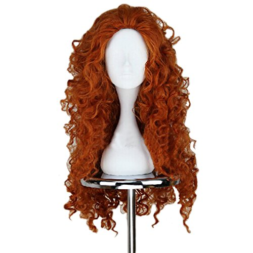 Cosplay Wigs Long Red Wavy Wig with Halloween