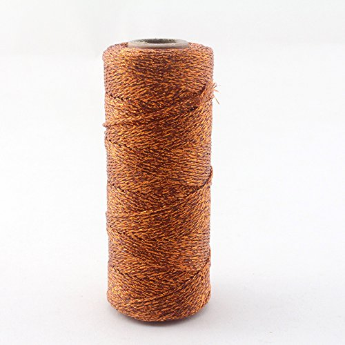 IPALMAY 100m Metallic Silver Bakers Twine Spool 3-Ply for DIY Crafts Arts or...