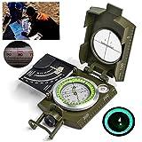 Dreamyth Professional Military Pocket Metal Sighting Compass Clinometer Hiking Camping