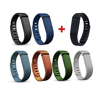 i-smile® 7PCS Replacement Bands with Metal Clasps for Fitbit Flex / Wireless Activity Bracelet Sport Wristband / Fitbit Flex Bracelet Sport Arm Band (No tracker, Replacement Bands Only) & Silicon Fastener Ring For Free