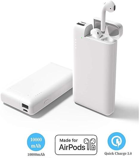 POWVAN 2 en 1 Power Bank 10000 mAh para AirPod, Cargador portátil batería Externa con Airpods Funda de Carga, Caja de Carga Compatible con Airpod iPhone teléfono (no Auriculares): Amazon.es: Electrónica