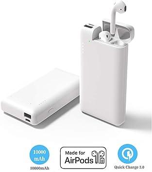 POWVANU 2 en 1 Power Bank 10000mAh para AirPod, Cargador Externo, batería Externa con Estuche de Carga Airpods, Cargador Compatible con iPhone Airpod: Amazon.es: Electrónica