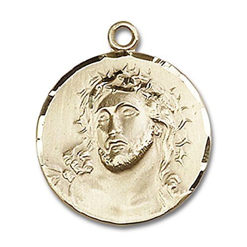 14kt Yellow Gold Ecce Homo Medal 3/4 x 3/4 inches (Medal 14kt Homo Ecce)