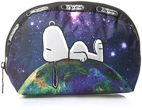 LeSportsac Peanuts X Medium Dome Cosmetic Case, Top Of the World