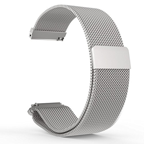 FitTurn For Fossil Gen 3 Sport Band,Replacement Quick Release Magnetic Milanese Loop Stainless Steel Metal Strap 20mm Band With Magnetic Closure Clasp for Fossil Gen 3 Sport/Fossil Q Control by FitTurn