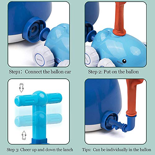 Cotify Balloon Car, Balloon Powered Car Set for Kids Balloon Racer Launcher Toy with Inflatable Pump Aerodynamics Educational Toys for Boys Girls