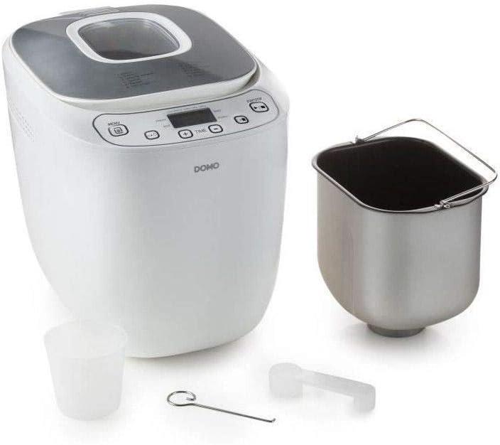 M�quina para hacer pan autom�tica DOMO B3963 - 550 W - Panes de 700 o 1000 g - 12 programas - Blanco: Amazon.es: Hogar