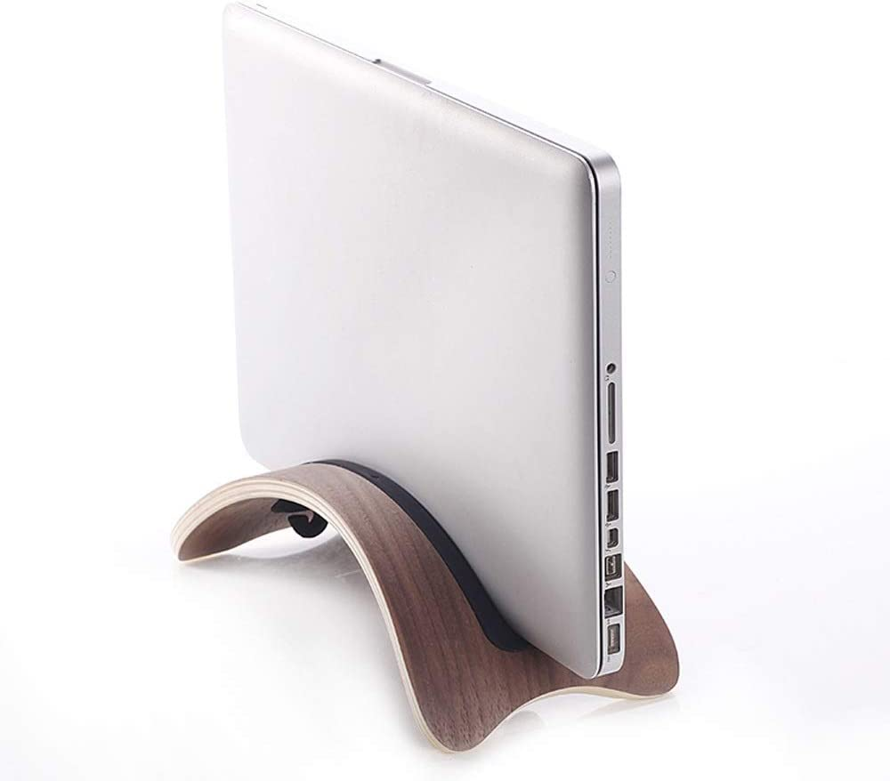 Lightweight and Convenient Laptop Stand Vertical Wooden Notebook Storage Rack Color : Brown Wooden Bracket 12-inch Universal Mounting Bracket Fast Cooling Laptop Vertical Table Bracket