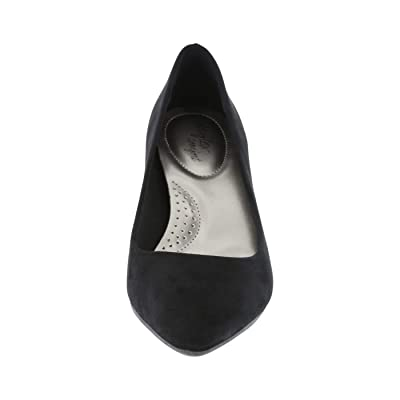 dexflex Comfort Black Suede Women's Jeanne Pointed-Toe Pump 9.5 Regular | Pumps